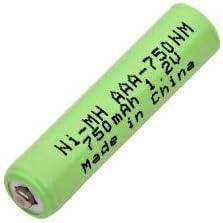 AAA-750NM Nickel Metal Hydride (NIMH) 1.2 V 750 mAh AAA Rechargeable Battery