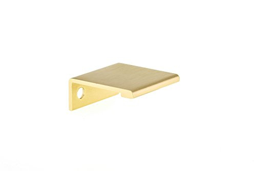 (Richelieu Hardware - BP989825166 - Contemporary Aluminum Edge Pull - 9898 - 25 mm - Satin Gold  Finish)