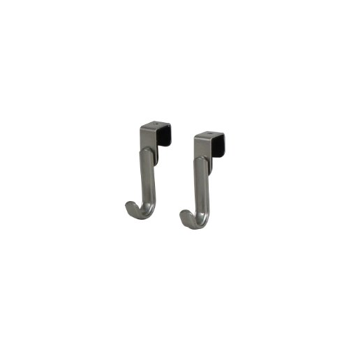 Spectrum Diversified Ashley Over the Cabinet Door Hook, Set of 2, Satin Nickel 2 Door Satin