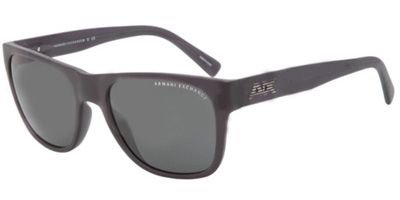 Armani Exchange Mens Sunglasses (AX4008) Black Matte/Grey Plastic - Non-Polarized - - Armani Womens Exchange Sunglasses