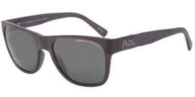Armani Exchange Mens Sunglasses (AX4008) Black Matte/Grey Plastic - Non-Polarized - - Women Sunglasses Armani