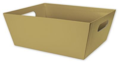 (Solid Color Specialty & Event Boxes - Gold Market Trays, 12 x 9 1/2 x 4 1/2