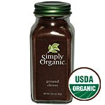 Simply Organic Cloves Ground ORGANIC 2.82 oz. bottle (a)