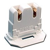 10-PACK LH0619 UL Listed Non-Shunted BJB 26.313.1016.50 Slide On U-Lamp Holder Medium Bi-Pin Socket for Fluorescent Tube Light Replacement-Low Profile