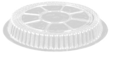 Handi-Foil of America Clear Plastic Dome Lid - Fits 9'' Round Aluminum Foil Pan Containers (pack of 500)