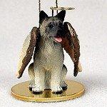 - Akita Gray Pet Angel Ornament