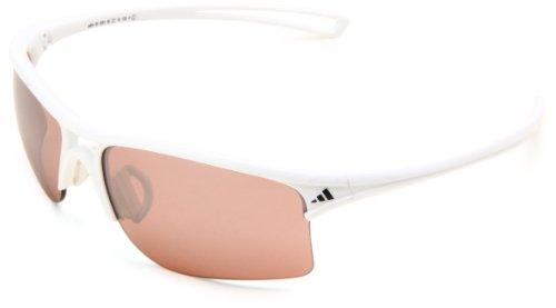 adidas raylor L Rectangular Sunglasses Shiny White 65 mm