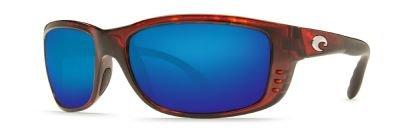 (Costa Del Mar Zane Polarized Sunglasses - Costa 580 Glass Lens Tortoise/Blue Mirror, One Size)