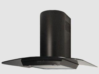 "Range Hood Wall Mounted Black 30"" KA-144-BLK NT AIR. Made in Italy."