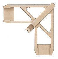 CRL Andersen 1'' x 7/16'' Tan Plastic Screen Frame Corner - 20 pack