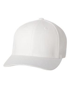 (Premium Original Blank Flexfit V-Flexfit Cotton Twill Fitted Hat Cap Flex Fit 5001 Large / Xlarge - White)