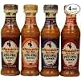 Nando's Peri Peri Sauces Lemon & Herb,Garlic,Medium and Hot Combo Pack of 4 x125ml South African