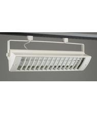 PLC Lighting TR556 WH Track Lighting 2 Light Biax CFL Collection, White Finish