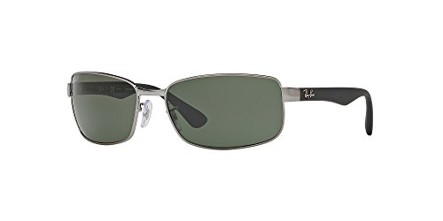 Ray-Ban Unisex RB3478 Gunmetal/Crystal Green Polarized One - Ray Ban Gunmetal