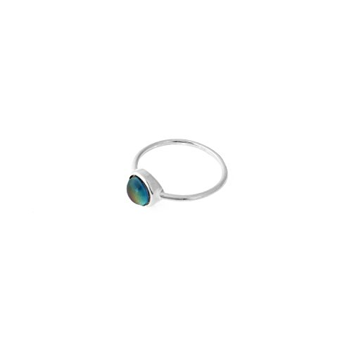 HONEYCAT Mood Ring in Gold, Rose Gold, or Silver | Minimalist, Delicate Jewelry (Silver, 9) (Best Mood Ring Chart)
