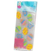 1 pack of 25pcs of Easter Egg Design Cello/Cellophane/Loot Treat Bag 11.5 x 5 x 3 inch