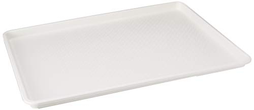(18 x 26 Inch Plastic Tray White)