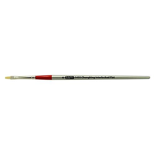 ZEM Brush Chungking Pro White Bristle Interlocked Flat Brush Single - Bristle White Brush Chungking