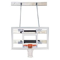 最初チームsupermount46 Pro steel-glass壁マウントバスケットボールsystem44 ;スカーレット B01HC0D4T4