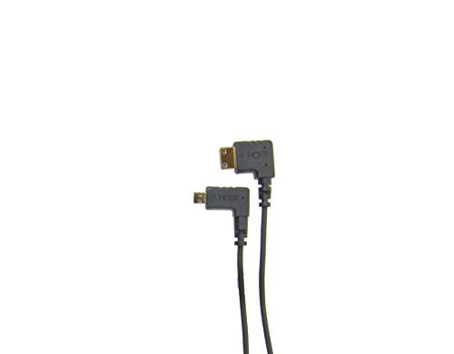 CMR UltraFlex 31 Inch Right Angle Micro HDMI Male To Right Angle Mini HDMI Male Cable. Ultra Flexible Slim 90 Degree Cable for Handheld Gimbal Stabilizers, Drone, Videography, and Dslr