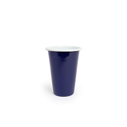 Enamelware Tumbler, 14 ounce, Dark Blue Pacifica 4