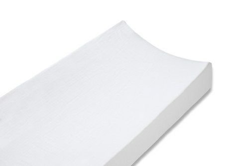 White Changing Pad Cover in 100% Cotton Knit by Especially For Baby from Especially for Baby