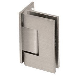 C.R. LAURENCE V1E044BN CRL Brushed Nickel Vienna 044 Series Wall Mount Offset Back Plate Hinge