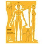 human figure stencil - FineArt Human Figure Drawing Template Stencil- Female