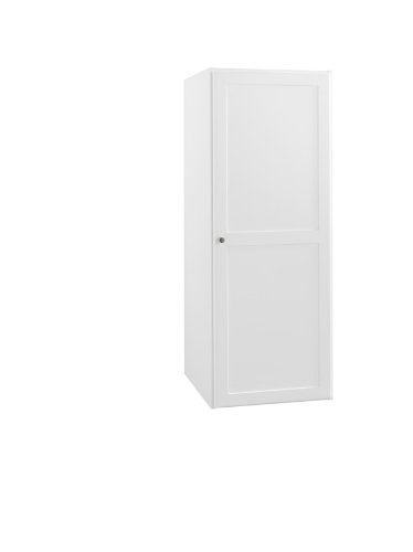 Ronbow Essentials Shaker 18 Inch Bathroom Linen Cabinet Storage Tower in Dark Cherry, with One Wood Door and Two Adjustable Shelves 679018-3-H01