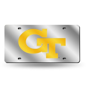 - Rico NCAA Georgia Tech Laser Cut License Plate, Silver