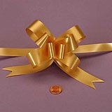 """Krafty Klassics 12 Pack of 2"""" & 4"""" Colored Butterfly Pull Bows (4"""", New Gold)"""