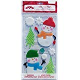 Christmas Winter Gel Window Clings - Snowmen - 21 Piece ()