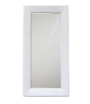 Diamond Sofa ZENMIWH Zen Accent Floor Mirror Wrapped In White Pvc