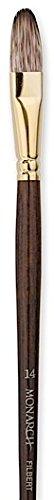 Monarch Filbert Long Handle - Winsor & Newton Monarch Brushes (Size: 14) - Filbert (Long Handle) 1 pcs sku# 1841987MA