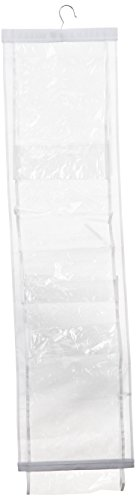 Whitmor 6044-14 White Crystal Collection Handbag File, Clear