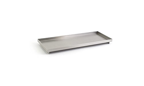 Front of the House RTR014BSS12 Rectangle Footed Tray, 1'' Height, 4.75'' width, 12.25'' Length, Stainless Steel (Pack of 6) by Front of the House