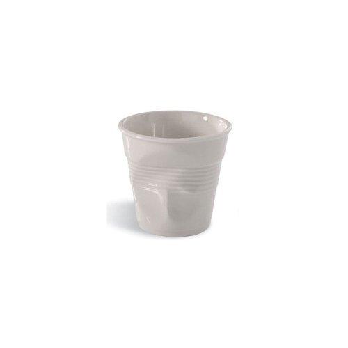 Revol Froisses White Porcelain 2.75 Ounce Crumpled Espresso Tumbler, Set of 6