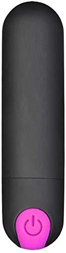 Classic Silver Small Mini Būllet vịbe vịbrant mạsşạgẹr for Women Pleasure Rechargeable vịbrabrators vịbes with Remote -10 Patterns Wireless Weạrable (Black)