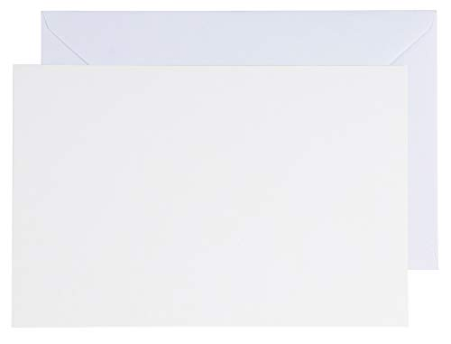 48-Pack Blank Greeting Cards - Plain White Cardstock Folded Notecards - Standard Straight Corners, Envelopes Included for DIY Holiday Cards Invitation, Birthday, Wedding, White, 5 x 7 -