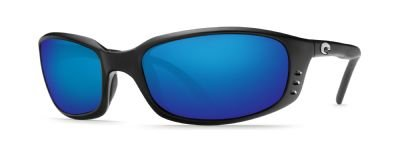 Costa Del Mar Brine Polarized Sunglasses, Black, Blue Mirror - Costa Blue Sunglasses Del Mar