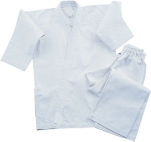 Middleweight 7.5 oz Traditional Karate Uniform - White Size ()