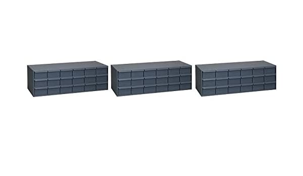 33-3//4 W x 12-7//8 H x 11-3//4 Depth 18 Drawer Durham 030-95 Gray Cold Rolled Steel Storage Cabinet