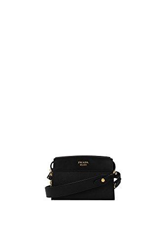 Prada Black Leather Clutch Bag With Shoulder Strap 1bh043 Waist bag - Buy  Online in UAE.  1c43345191ddc