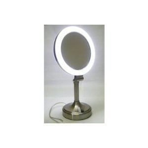 Zadro Dimmable Sunlight Vanity Mirror, Satin Nickel, 10X-1X by Zadro