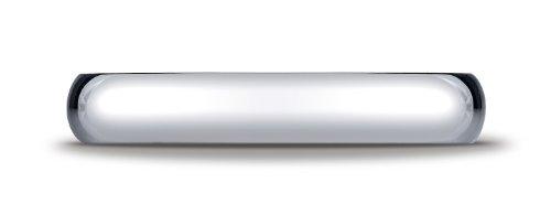 Womens 10K White Gold, 4mm Slightly Domed Standard Comfort Fit Ring