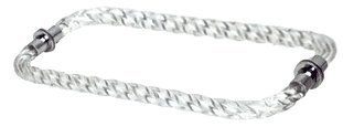 C.R. LAURENCE CATBT12X12CH CRL 12 Acrylic Twist Back-to-Back Towel Bar With Chrome Rings by C.R. Laurence