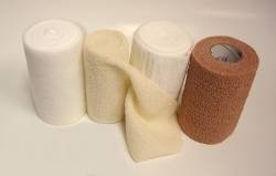 McKesson Compression Bandaging System, Four-Layer, 4 Inch X 3.8 Yards / 4 Inch X 4.9 Yards / 4 Inch X 9.5 Yards / 4 Inch X 6.5 Yards, Tan / White, NonSterile, each set(*)