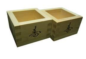Japanese sake masu wood cups 2sets,made of Japanese moth wood.6.12oz.Made in Japan.