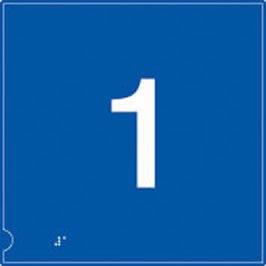 Piso 1 braille ascensor cartel en fondo azul.: Amazon.es ...