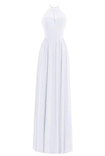 Delle Convenzionale Vestito Capestro Partito Donne Bianco Di Dal Da Promenade Abito Lungo Sera Dasior Zqgn4Fwg